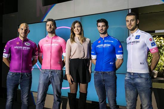 Giro d'Italia 2018, ecco le maglie ufficiali (e la madrina)