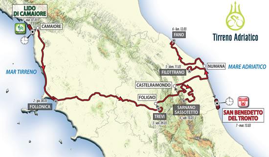 Presentato il percorso della Tirreno Adriatico 2018: omaggio a Scarponi con l'arrivo a Filottrano