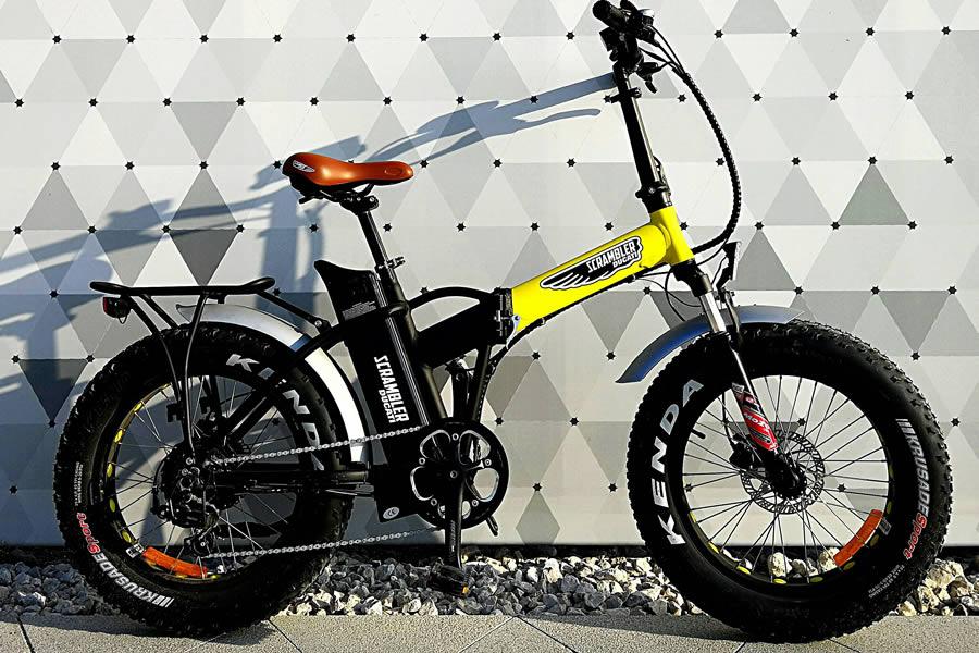 Yellow E Black Edition Ag Group Porta Lo Stile Scrambler Sulle Bici
