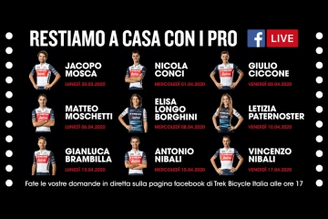 Da Vincenzo Nibali a Letizia Paternoster grazie alle dirette Facebook di Trek