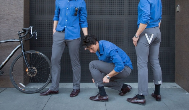 Bike to Work: pantaloni con bande riflettenti