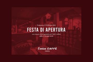 Domenica 23 febbraio: tutti invitati alla festa d'apertura di Eroica Caffè Padova