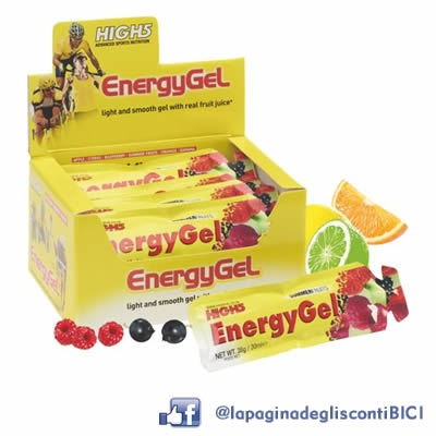 20 Energy Gels High5 da 38 grammi