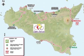 Giro di Sicilia, inizia oggi la corsa di quattro tappe