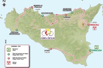 1-4 aprile, torna il Giro di Sicilia: 4 le tappe in programma