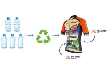 Granfondo Stelvio Santini: la maglia ufficiale ottenuta grazie al riciclo di circa 5 bottiglie in plastica