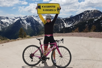 La 4 volte Guinness World Record Paola Gianotti, dal 13 al 19 luglio, fra Calabria e Sicilia